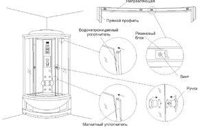 душевая кабина Erlit инструкция по сборке img-1