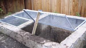 Бетонная компостная яма