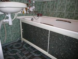 Установка экрана на ванну своими руками