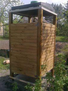 Дачный душ деревянный своими руками