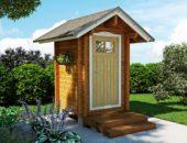 Проект дачного туалета из дерева