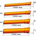 схема уклона канализационной трубы