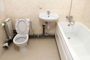 Разводка канализационных труб в ванной и туалете