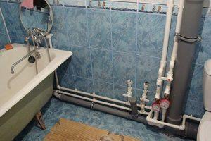 в совмещенном канализации санузле схема