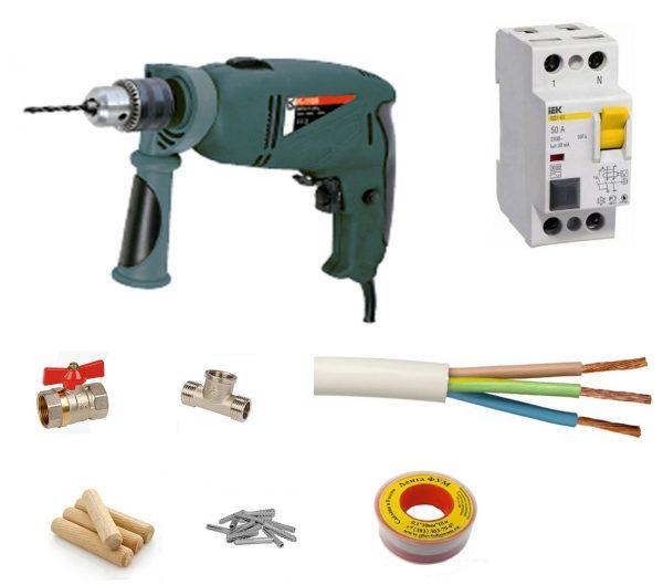 инструменты для подключения водонагревателя