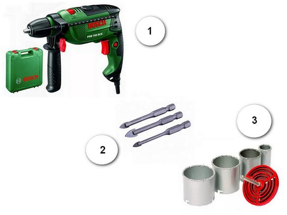 Инструменты для сверления отверстия в раковине