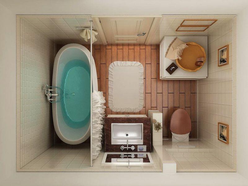 Маленькая ванная комната: фото-идеи дизайна санузла
