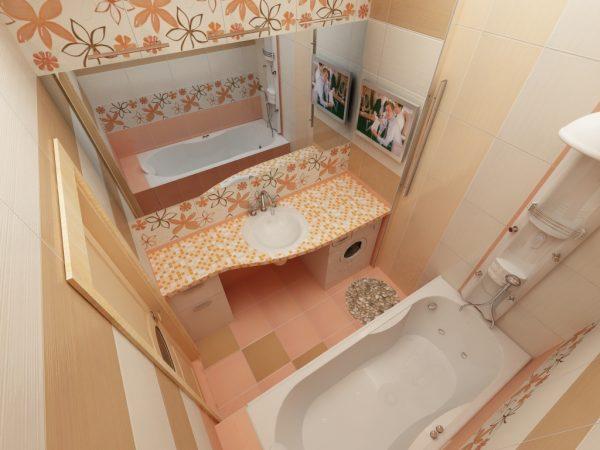 Светло-желтая ванная