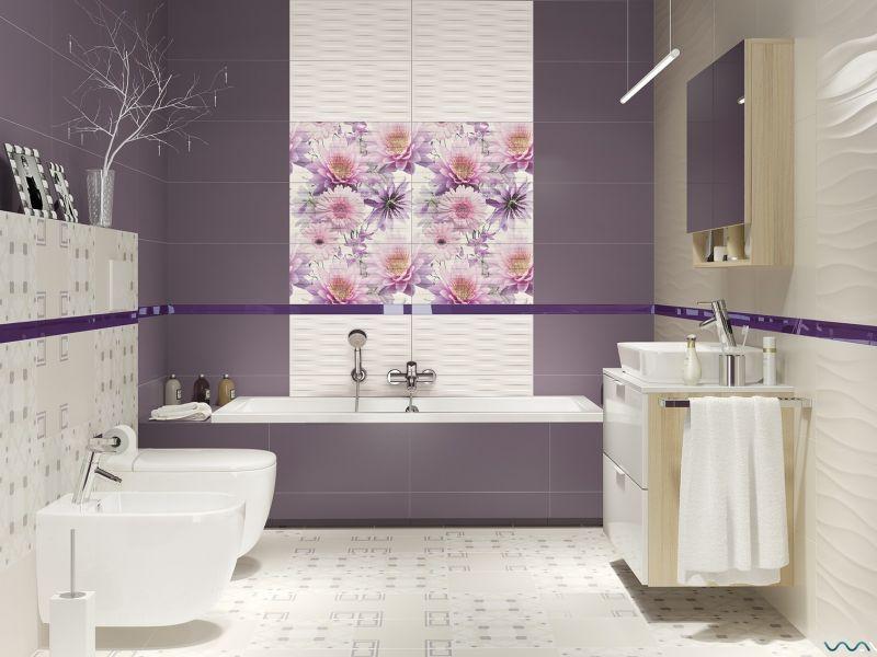 Плитка для ванной комнаты: фото дизайна