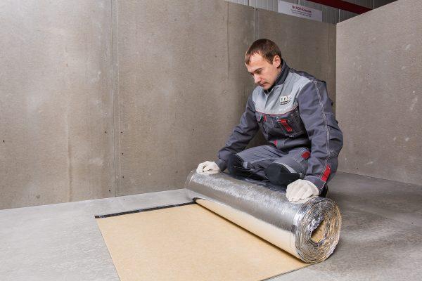 Подготовка шумоизоляционного материала