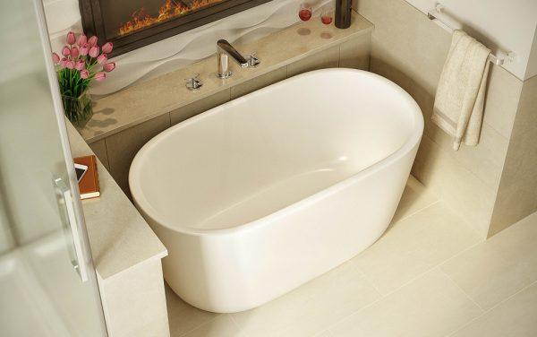 овальная сидячая ванна для маленькой ванной комнаты