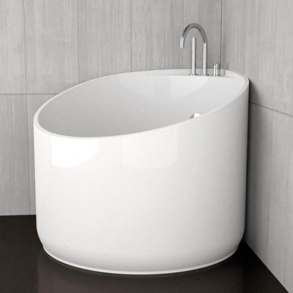 круглая сидячая ванна для маленькой ванной комнаты