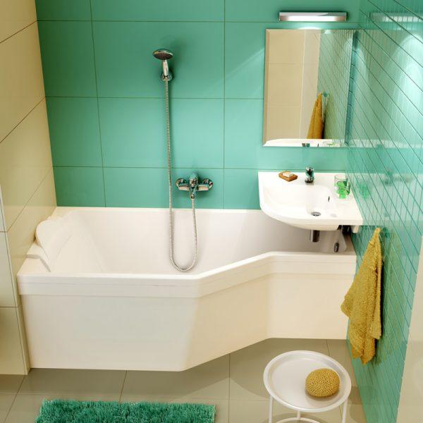 дизайнерская сидячая ванна для маленькой ванной комнаты