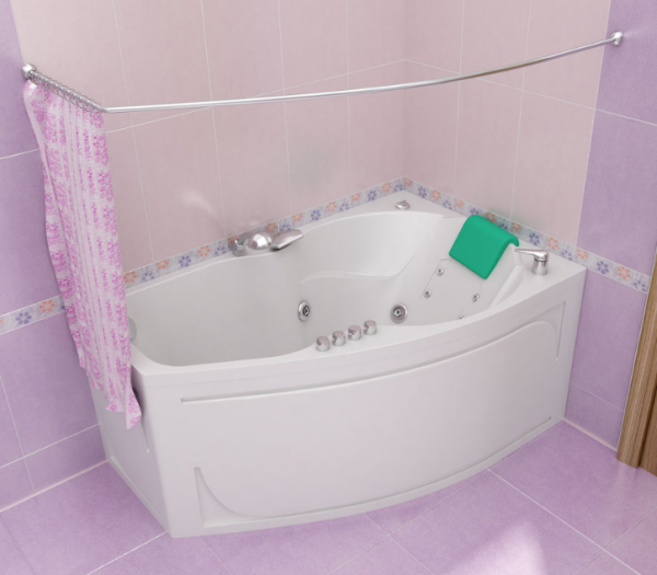 сидячая ванна с гидромассажем для маленькой ванной комнаты