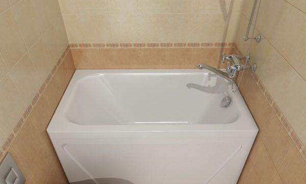 прямоугольная сидячая ванна для маленькой ванной комнаты