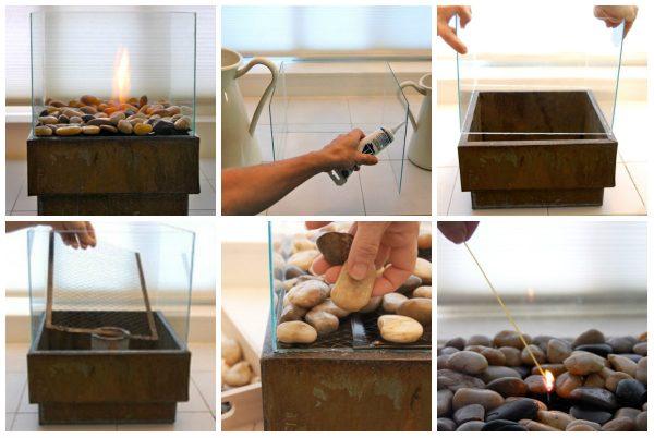 Сборка камина из готовых элементов