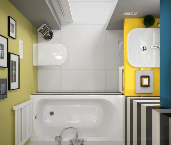 Ванная в контрастных цветах