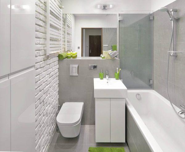 Ванная комната с элементами лофта