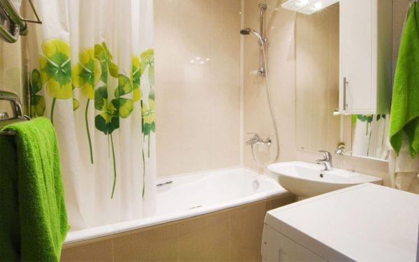 Светлые оттенки в дизайне ванной
