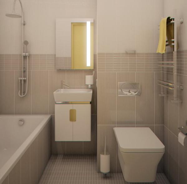 Дизайн ванной комнаты с подвесным унитазом