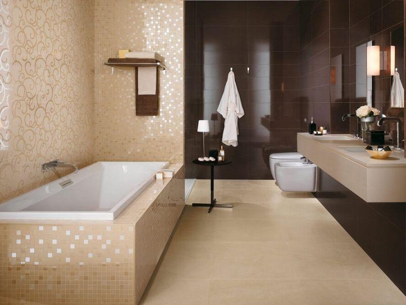 Варианты отделки ванной комнаты плиткой: идеи и фото