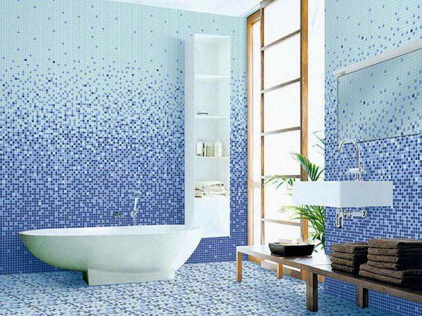 Ванная, отделанная мозаикой
