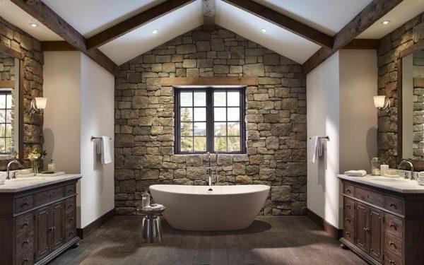Отделка ванной искусственным камнем