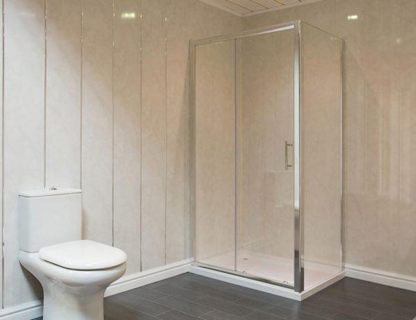 Ванная комната, отделанная панелями ПВХ