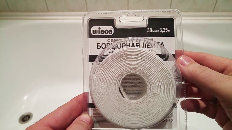 Как приклеить бордюрную ленту в ванной: инструкция