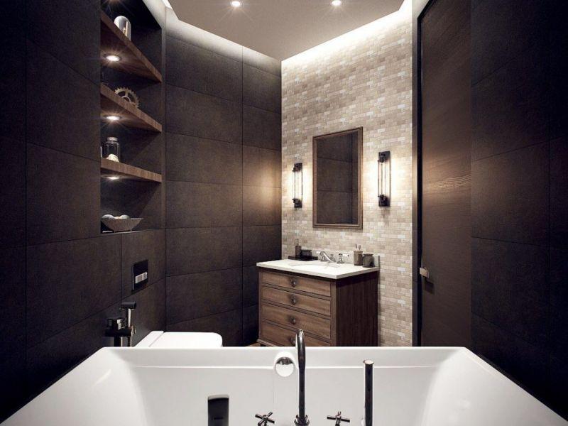 Освещение в ванной комнате: примеры на фото