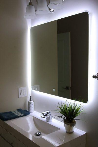 освещение зеркала в ванной комнате