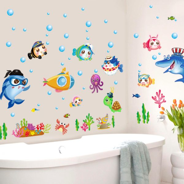 наклейки в ванную для детей фото