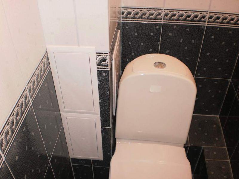 Короб из гипсокартона для труб в туалете своими руками