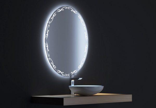 Зеркала с подсветкой для ванной комнаты: рекомендации и фото
