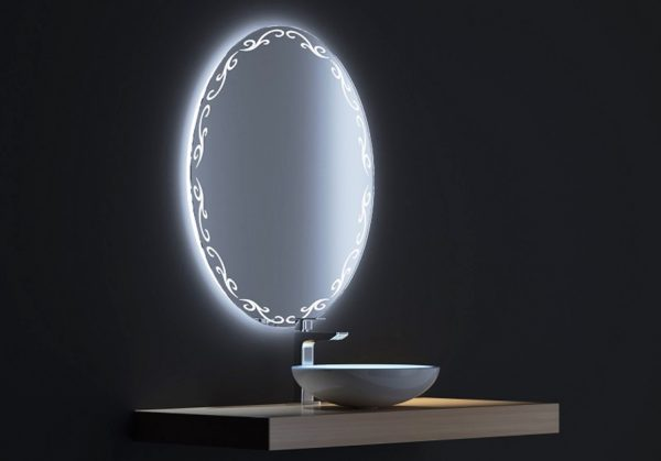 зеркало с подсветкой для ванной комнаты