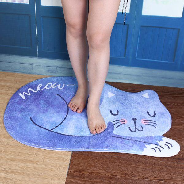 коврик с впитывающей антискользящей поверхностью в форме кота