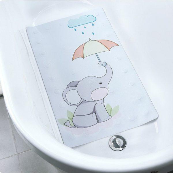 Гладкий ПВХ-коврик для ванной