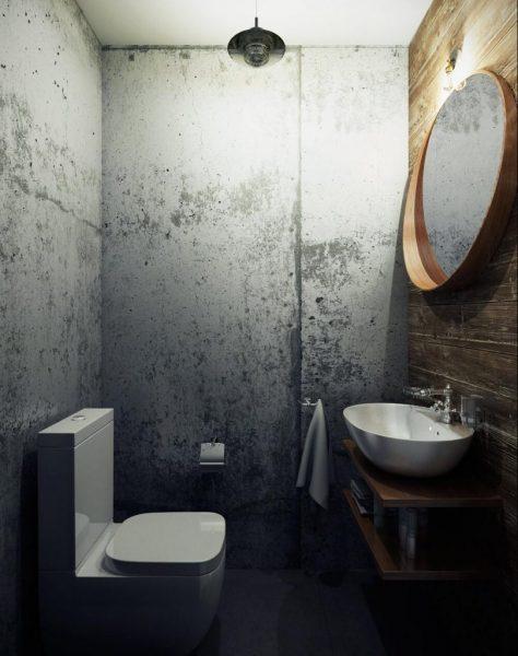 Туалет в стиле лофт: лучшие идеи на фото