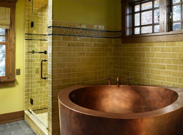 Перегородка в ванной комнате из керамического кирпича