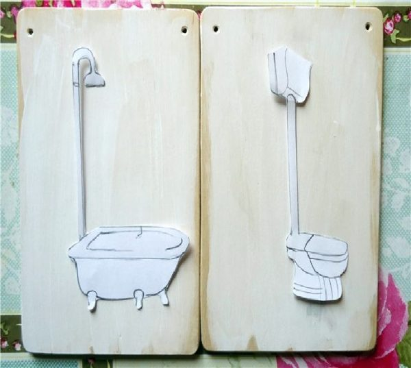 табличка туалет ванная