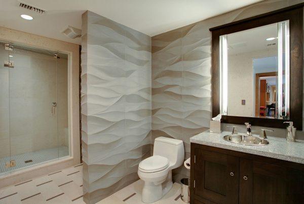 Ванная, отделанная панелями