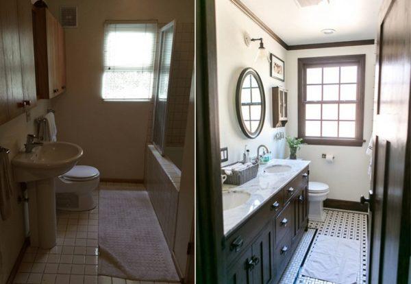 ванная в хрущевке фото до и после ремонта