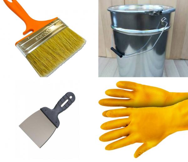 Принадлежности для очистки стен от краски