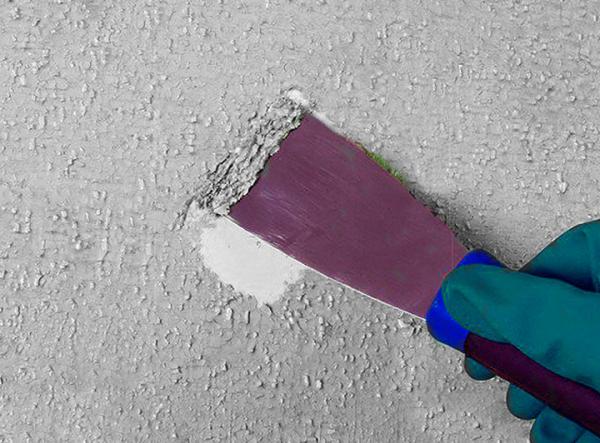 Очистка стен от краски