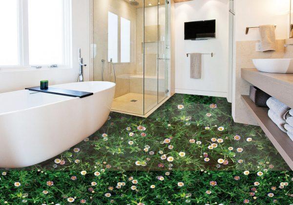 Трёхмерный пол в ванной