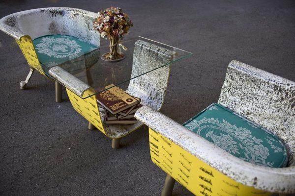Мебельный гарнитур из старой ванны
