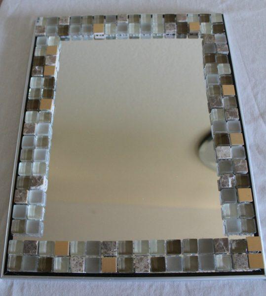 как оформить зеркало своими руками для ванной