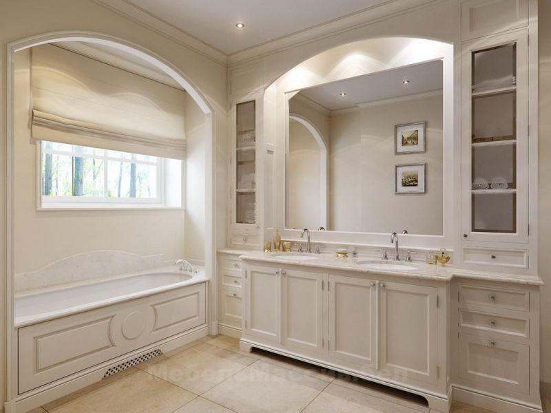 Встроенная мебель в ванную комнату: подборка фото