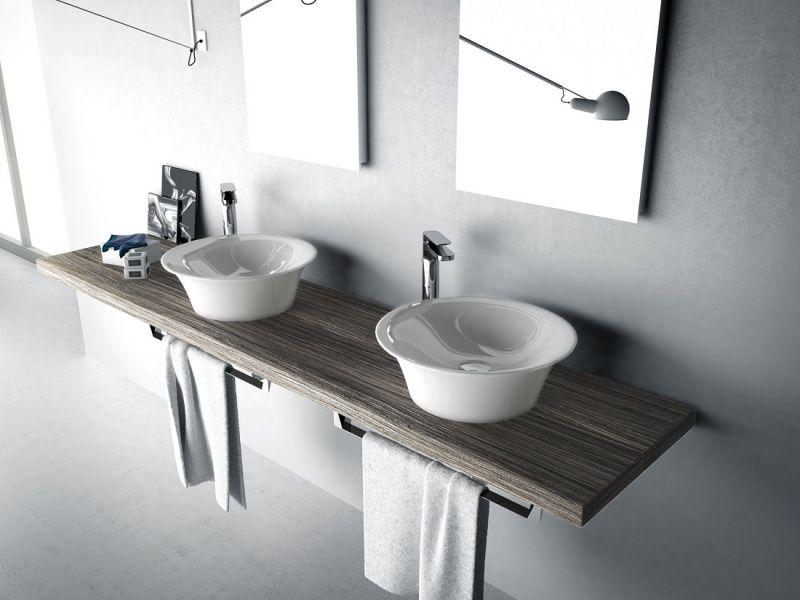 Ванная комната с двумя раковинами: дизайн на фото