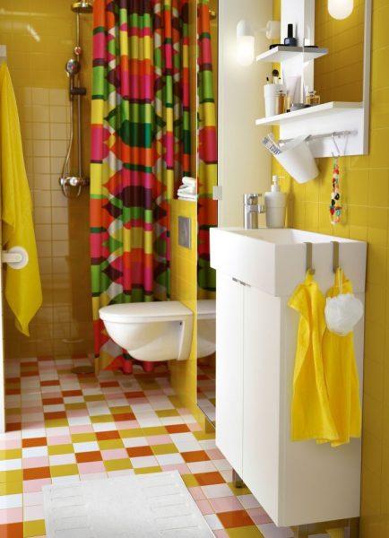 оформление ванной аксессуарами